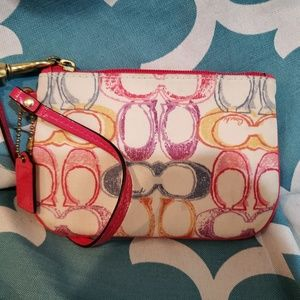 Coach Signature C Multicolored Wristlet